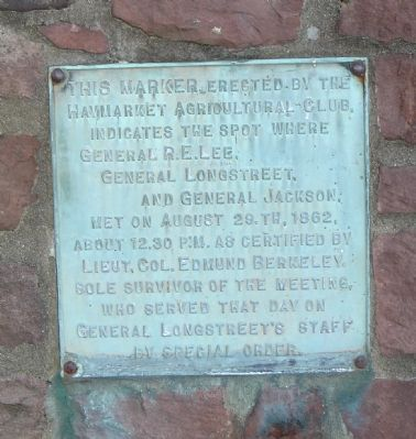 Lee, Longstreet, and Jackson Meeting Marker